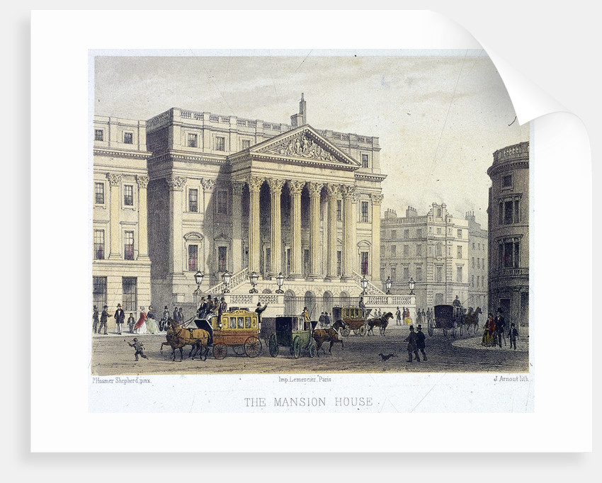 Mansion House (exterior), London by Jules Louis Arnout