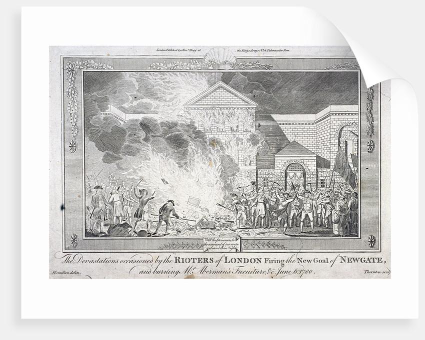 Gordon Riots, Newgate Prison, London by Thornton