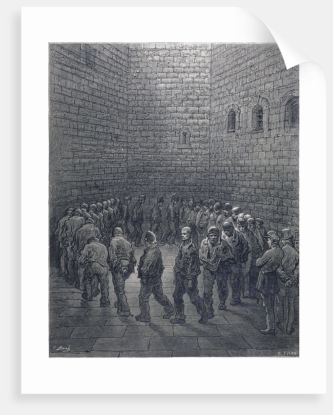 Newgate-Exercise Yard by Héliodore Joseph Pisan