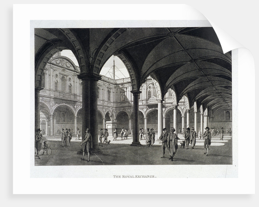 Royal Exchange (2nd) interior, London by Anonymous