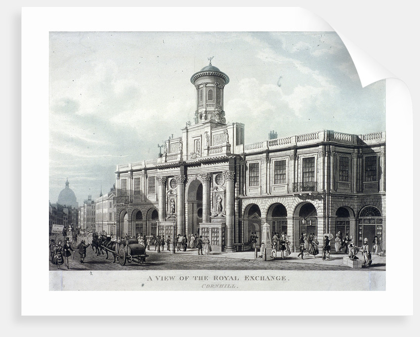 Royal Exchange (2nd) exterior, London by Anonymous