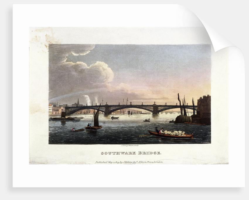 Southwark Bridge, London by J Shury