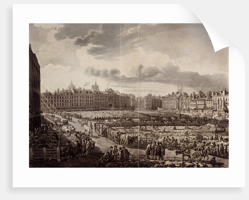 Smithfield Market, London, 1811 by J Bluck