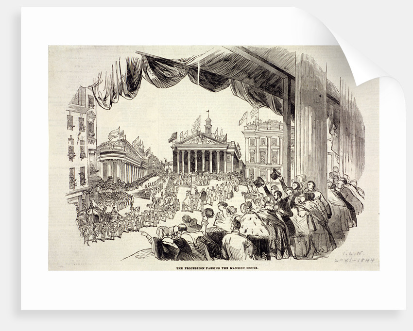 Scene of the Royal Exchange's opening, London by