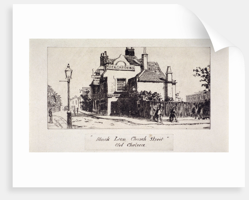 View of the Black Lion Inn, London by Walter Greaves