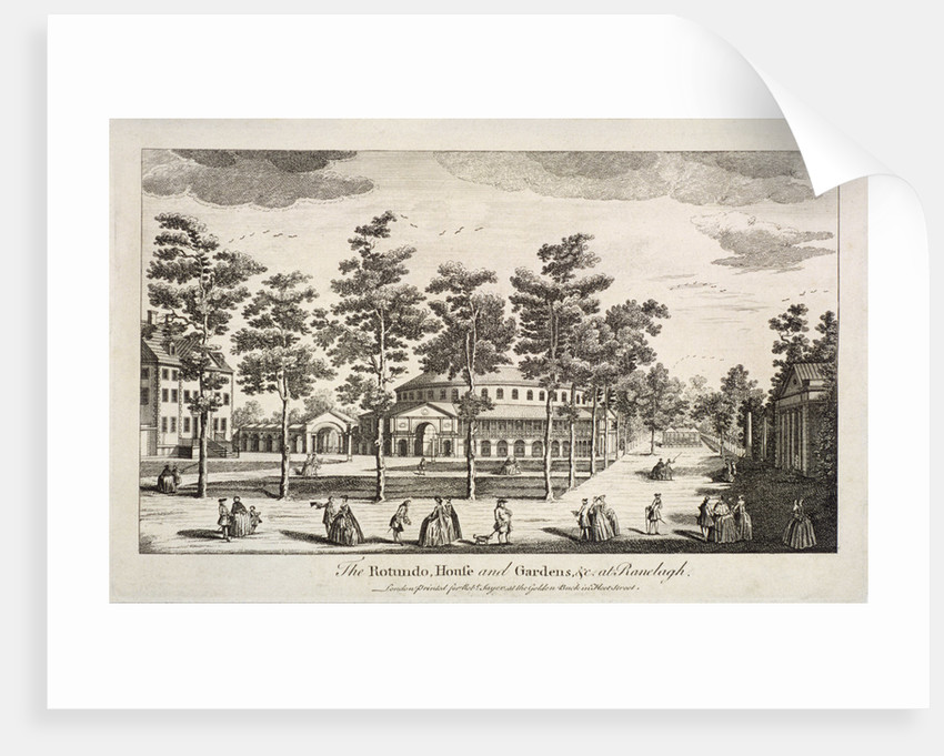 The Rotunda and Ranelagh House in Ranelagh Gardens, Chelsea, London by Anonymous