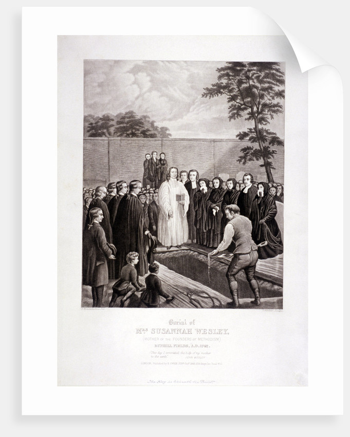 The burial of John Wesley's mother in Bunhill Fields, Finsbury, London by Stephen Gimber