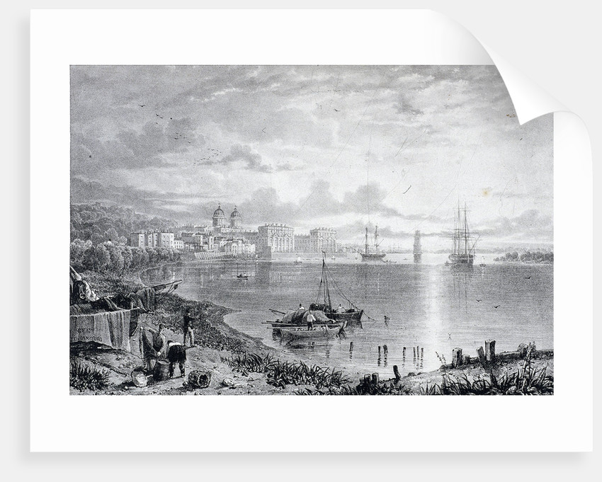 View of Greenwich Hospital, Greenwich, London by James Duffield Harding
