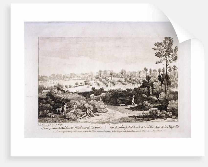 View of Hampstead Heath, Hampstead, London by Francesco Bartolozzi