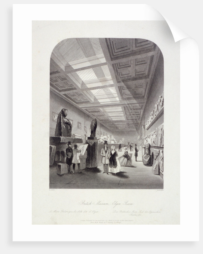 The Elgin Room, British Museum, Holborn, London by William Radclyffe