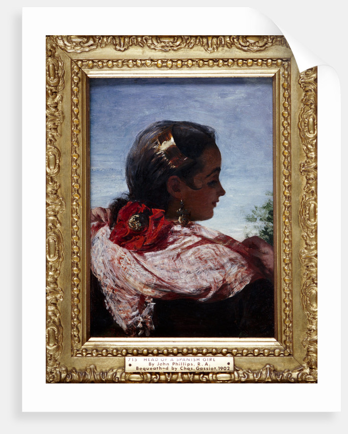 Head of a Spanish Girl by