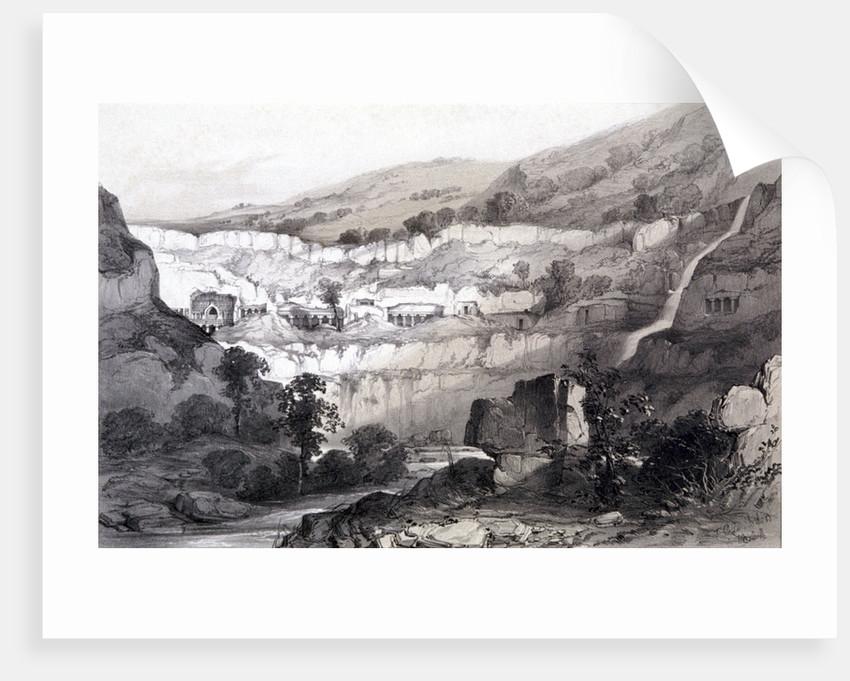 View of Caves, Ajunta, India by Thomas Colman Dibdin
