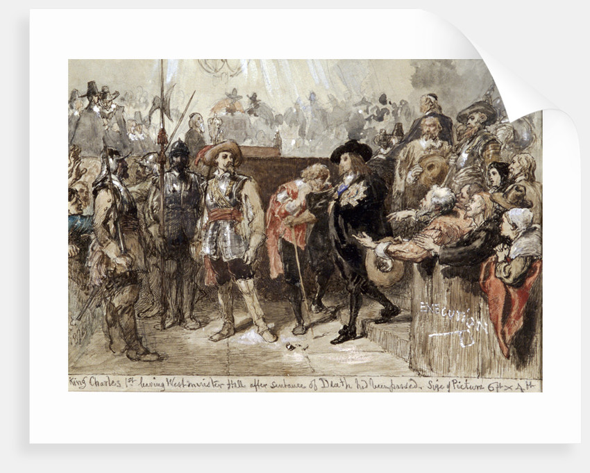 Charles I leaving Westminster Hall after his trial by Sir John Gilbert