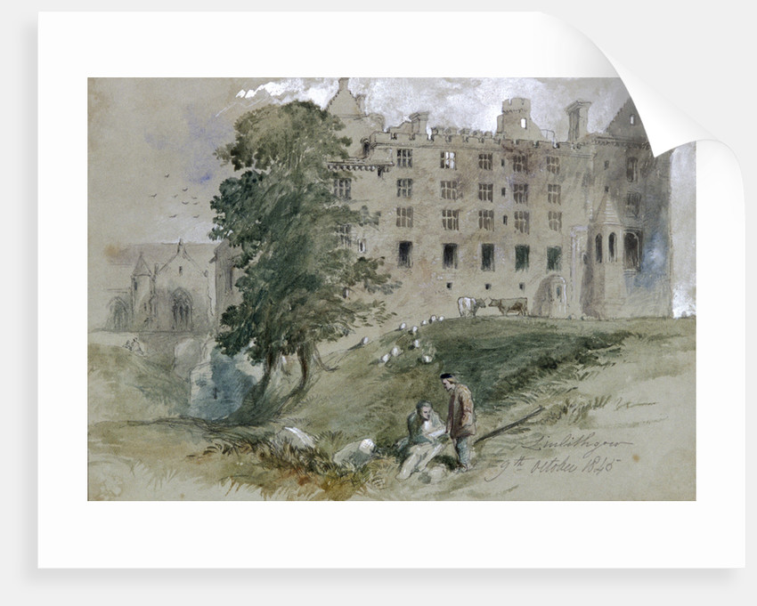 Linlithgow Castle, West Lothian, Scotland by Sir John Gilbert
