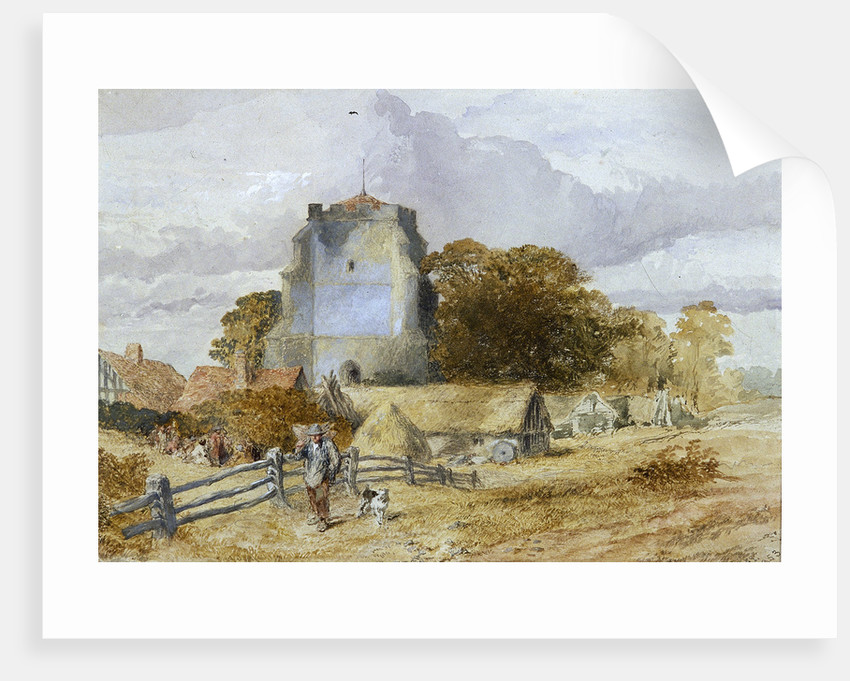 Westham Church, Pevensey, East Sussex by Sir John Gilbert