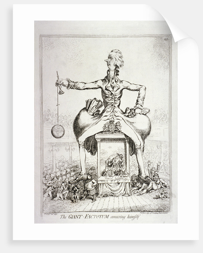 The giant-factotum amusing himself' - William Pitt by James Gillray