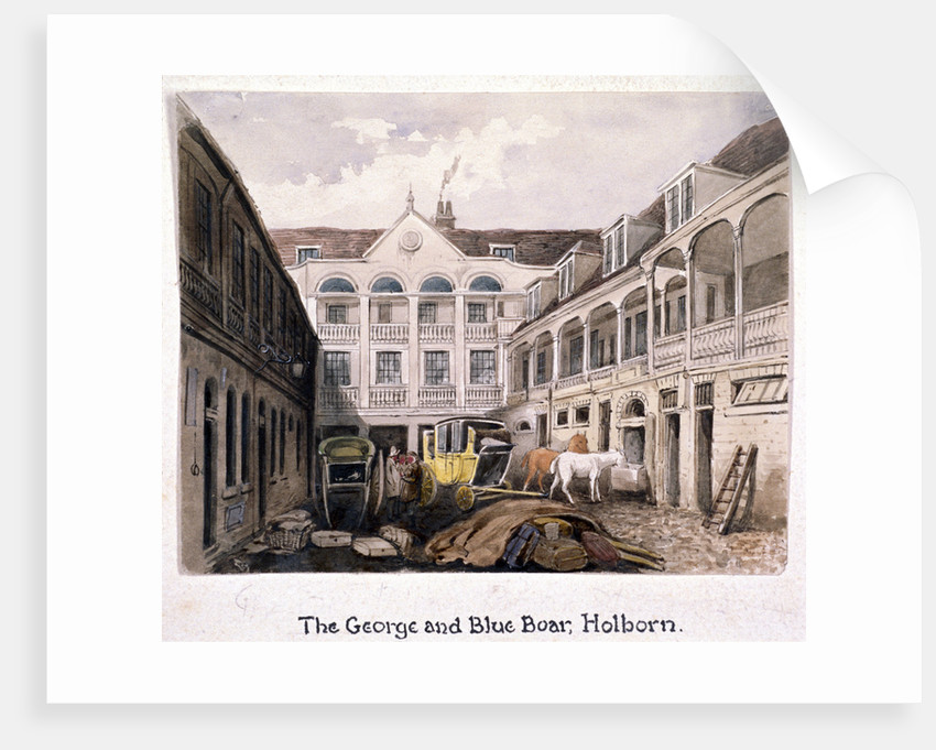George and Blue Boar Inn, Holborn, London by Anonymous