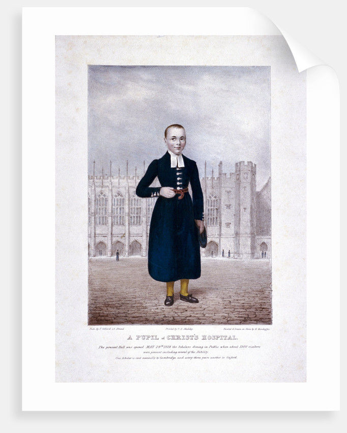 Christ's Hospital pupil, London by Henry Kirchhoffer