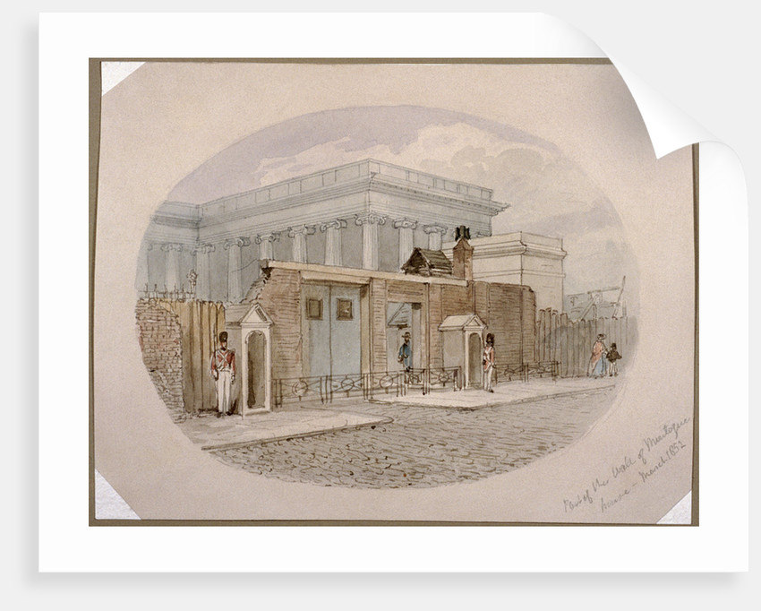 Montague House wall, British Museum, London by