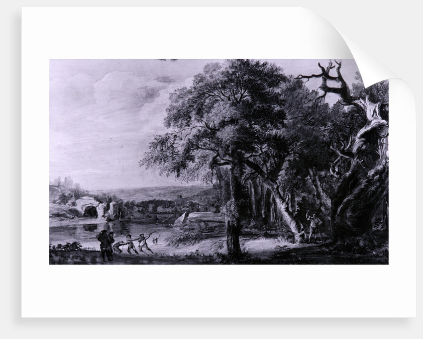 Woodcutters near a river, 1755(?) by Paul Sandby