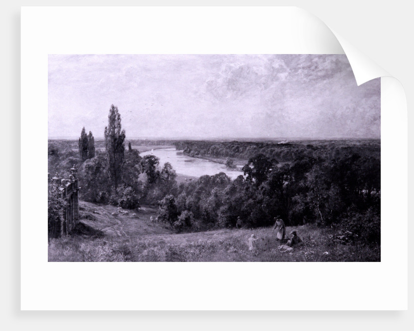 The River Thames from Richmond Hill, London by Sir Ernest Albert Waterlow