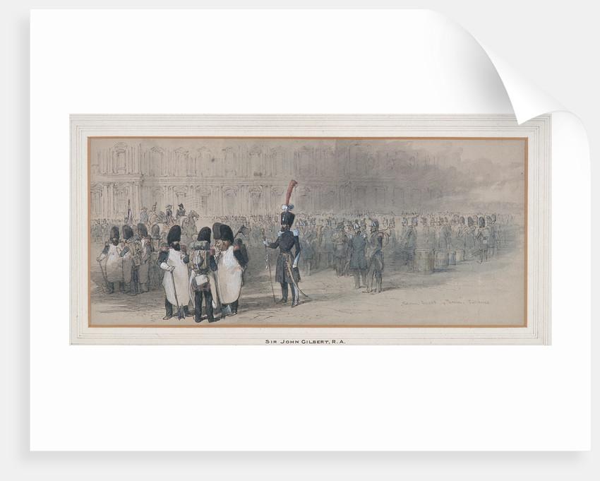 National Guard at The Tuileries, 1846? by Sir John Gilbert