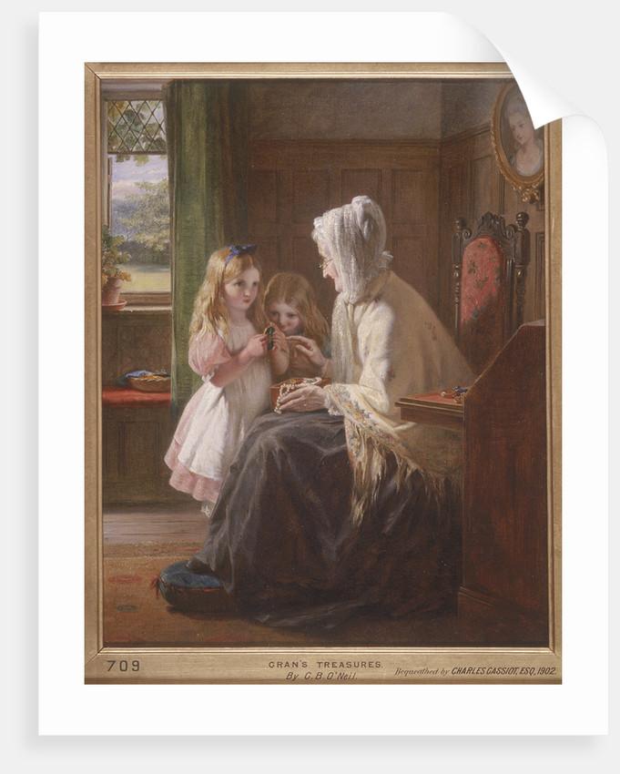 Gran's Treasures by George Bernard O'Neill