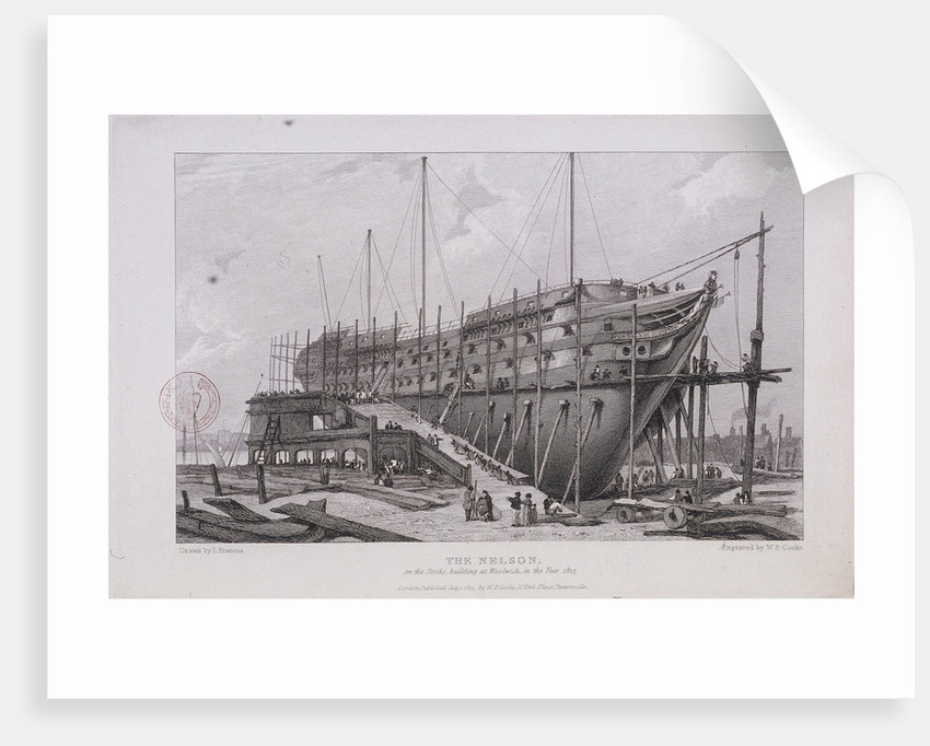 The 'Nelson' at the Royal Dockyard, Woolwich, London by