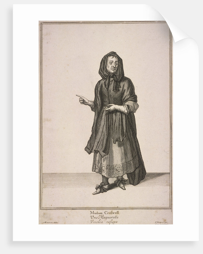 Madam Creswell, Cries of London, (c1688?) by Pierce Tempest