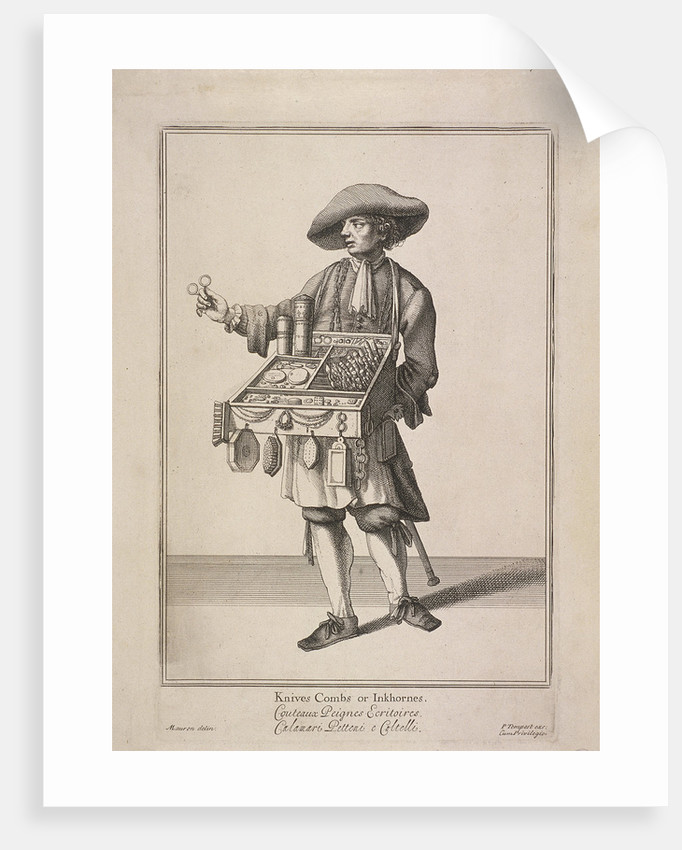 Knives Combs or Inkhornes, Cries of London, (c1688?) by Pierce Tempest