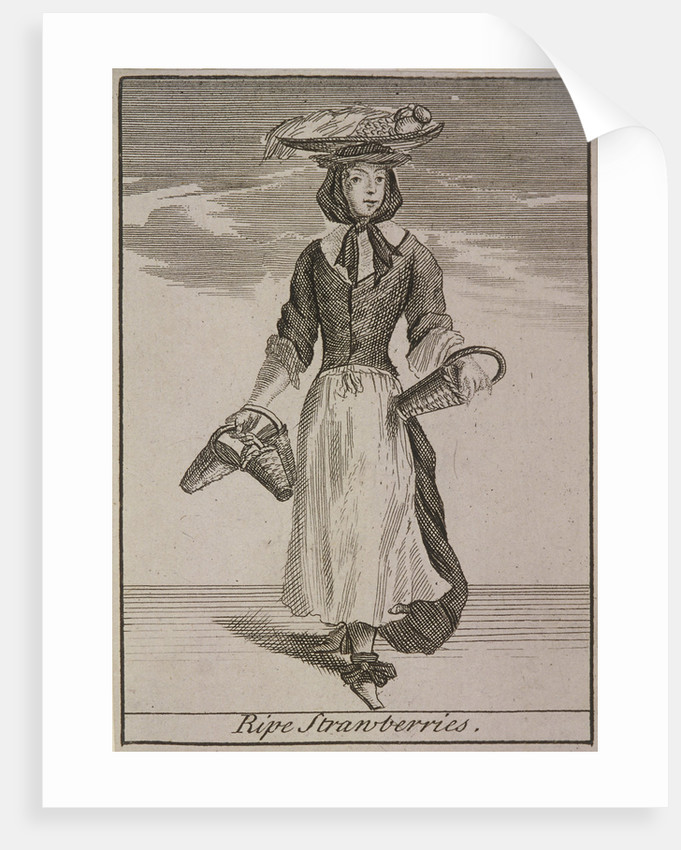 Ripe Strawberries, Cries of London, (c1688?) by