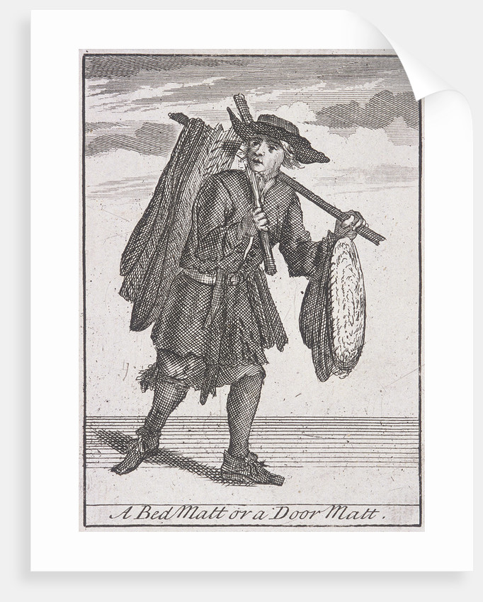 A Bed Matt or a Door Matt, Cries of London, (c1688?) by