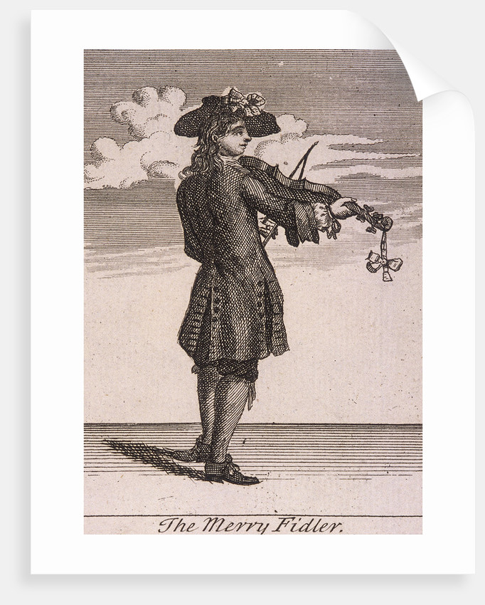 The Merry Fidler, Cries of London, (c1688?) by Anonymous