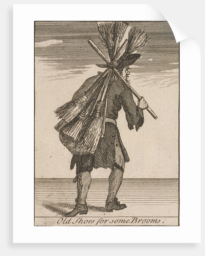 Old Shoes for some Brooms, Cries of London, (c1688?) by