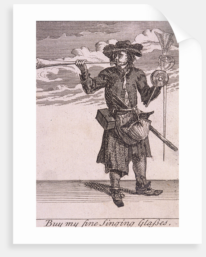 Buy my fine Singing Glasses, Cries of London, (c1688?) by