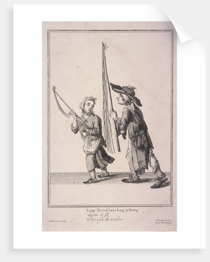 Long Threed Laces Long & Strong, Cries of London, (1688?) by Anonymous