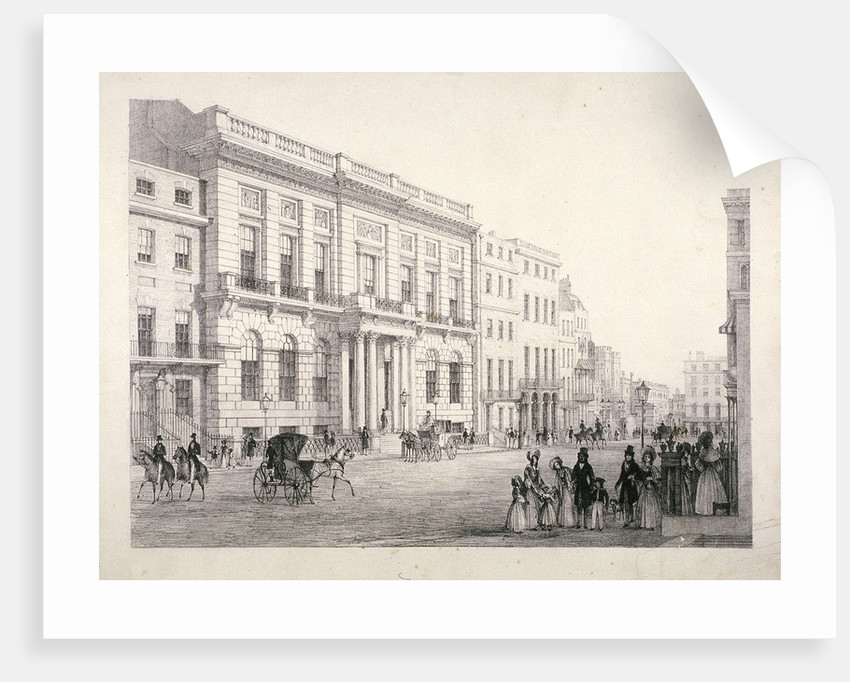 View of Oxford and Cambridge University Club, in Pall Mall, Westminster, London by