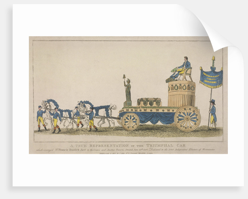 Triumphal car, pulled by four horses, June 29th by Anonymous