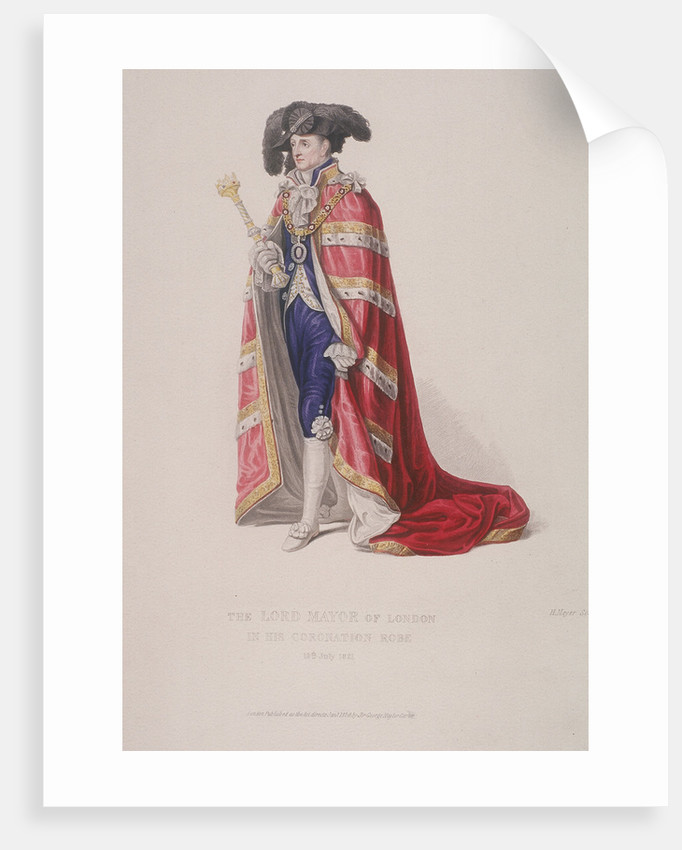 Lord Mayor of London, John Thomas Thorp, dressed for a royal coronation by Henry Meyer