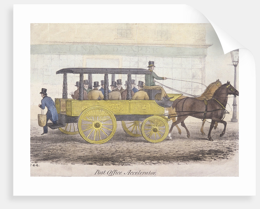 Post Office Accelerator with passengers, Holborn, London by Anonymous