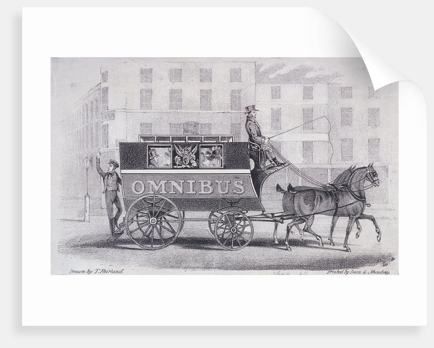 Shillibeer's second omnibus, drawn by two horses instead of three by Dean and Munday