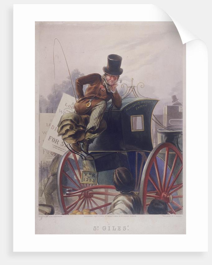 Hansom cab driver, London by J Harris