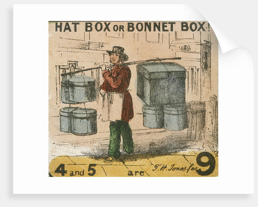 Hat Box or Bonnet Box!, Cries of London by TH Jones