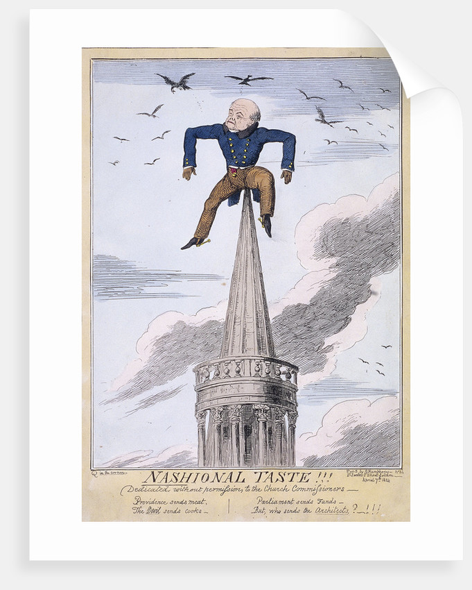 John Nash on the spire of All Souls Church, Langham Place, Westminster, London by Anonymous