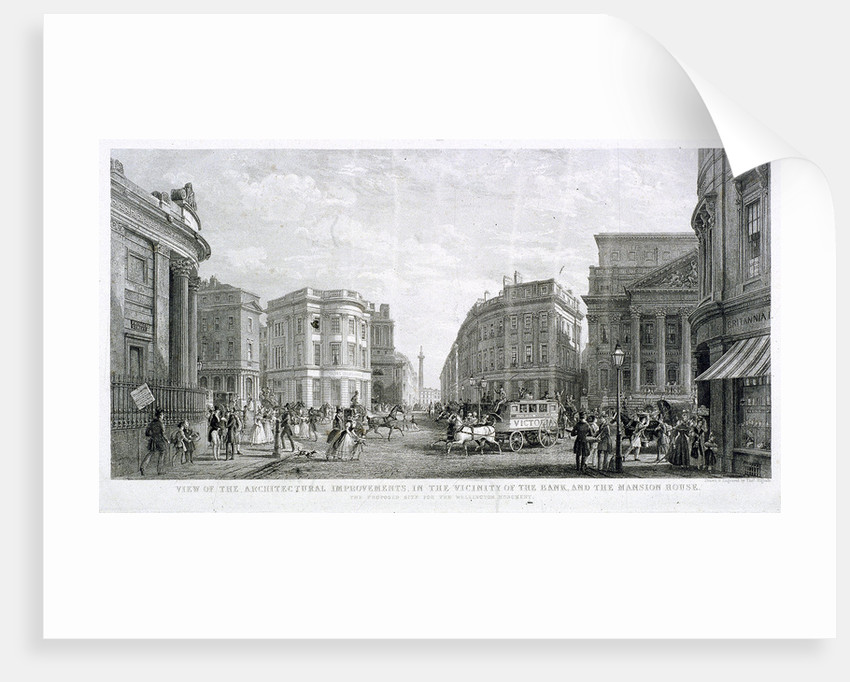 View of the Architectural Improvements in the Vicinity of the Bank, and the Mansion House by Thomas Higham
