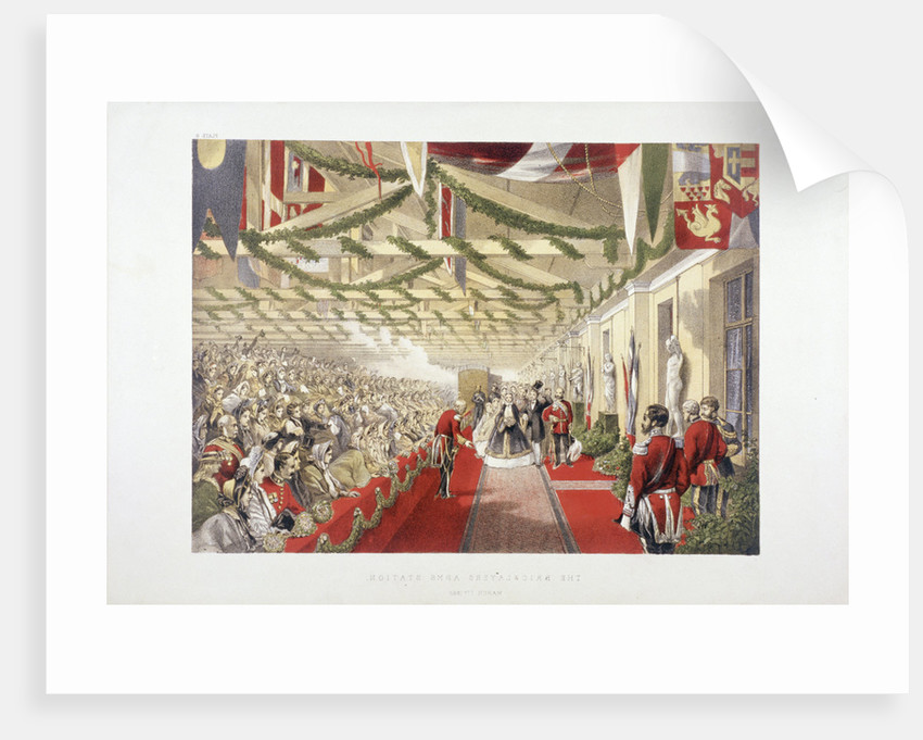 Princess Alexandra's arrival at Bricklayers' Arms Station, Bermondsey, London by Anonymous