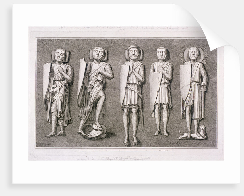 Five effiigies of knights from Temple Church, London by James Basire I