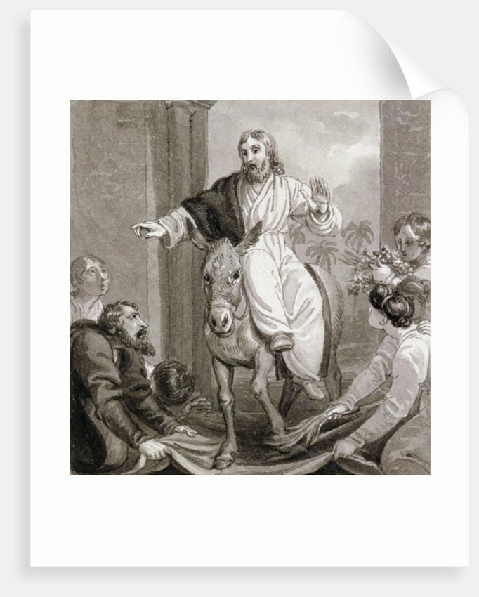 Christ entering Jerusalem, Israel by Henry Corbould