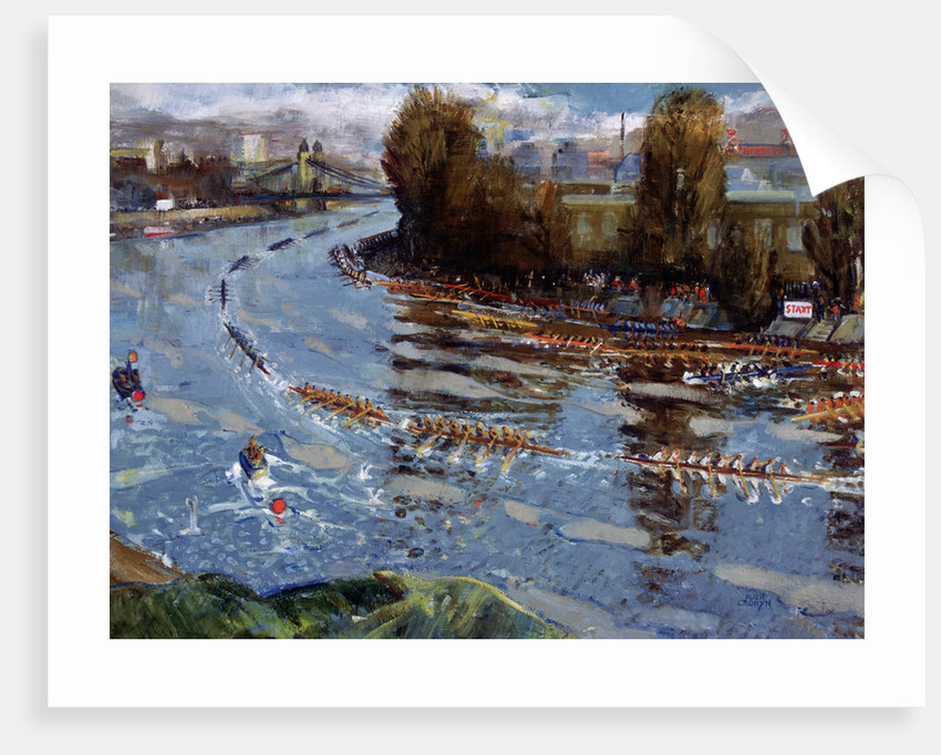 Head of the River for Schools, (rowing race on the Thames, London) by