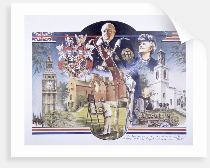 Images relating to Winston Churchill Memorial Library, St Mary Aldermanbury, London by Anonymous
